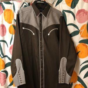 Men's western button up long sleeve shirt